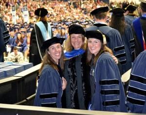 Ph.D students graduate
